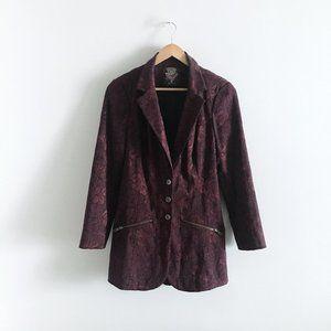 Free People Lace Corset Brocade Blazer - size 6